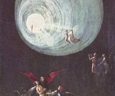 Hyeronimus Bosch - Ascesa all'Empireo  - pannello facente parte delle Quattro visioni dell'Aldilà (1490 circa) olio su tavola, Venezia, Palazzo Ducale