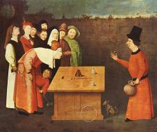 Hyeronimus Bosch, Il Prestigiatore (1502), olio su tavola, Saint-Germain-en-Laye, Musee Municipal