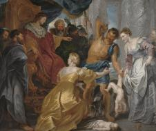 """Pieter Paul Rubens, """"Il Giudizio di Salomone"""" (1617) - Olio su tela, Statens Museum for Kunst, Copenaghen"""