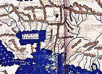 Henricus Martellus, Mappa del Mondo, Firenze (1489), Pittura su carta, Londra, British Library