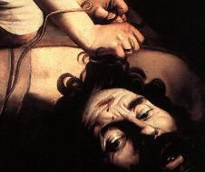 """Michelangelo Merisi """"il Caravaggio"""", David y Goliat (1597-8) óleo sobre tabla, Museo Nacional Del Prado, Madrid"""