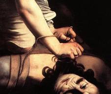 """Michelangelo Merisi """"il Caravaggio"""", David and Goliath (1597-8), oil on panel, Museo Nacional Del Prado, Madrid"""