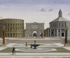 Fra Carnevale (attribuito) -  La città ideale -(1480/1484) - olio e tempera su pannello - Baltimora, Walters Art  Museum