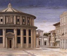 Sconosciuto - La città ideale (dettaglio - 1480/1490) - tempera su tavola - Urbino, Galleria Nazionale delle Marche